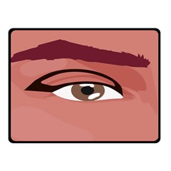 Eye Difficulty Red Double Sided Fleece Blanket (Small)
