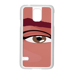 Eye Difficulty Red Samsung Galaxy S5 Case (white)