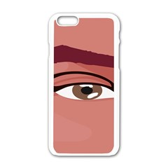 Eye Difficulty Red Apple iPhone 6/6S White Enamel Case