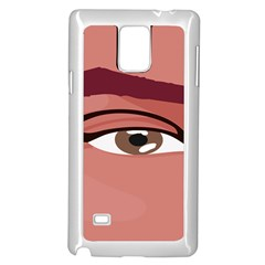 Eye Difficulty Red Samsung Galaxy Note 4 Case (White)