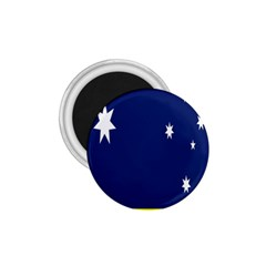 Flag Star Blue Green Yellow 1.75  Magnets