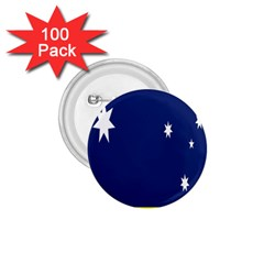 Flag Star Blue Green Yellow 1.75  Buttons (100 pack)