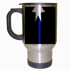 Flag Star Blue Green Yellow Travel Mug (Silver Gray)