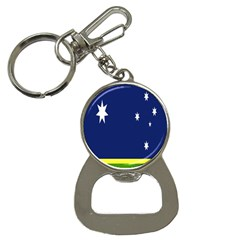 Flag Star Blue Green Yellow Button Necklaces