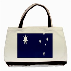 Flag Star Blue Green Yellow Basic Tote Bag (Two Sides)