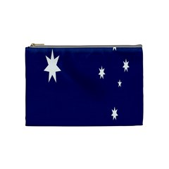 Flag Star Blue Green Yellow Cosmetic Bag (Medium)