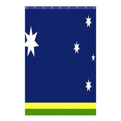 Flag Star Blue Green Yellow Shower Curtain 48  x 72  (Small)
