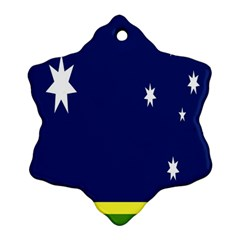Flag Star Blue Green Yellow Ornament (Snowflake)