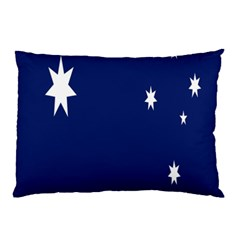 Flag Star Blue Green Yellow Pillow Case (Two Sides)