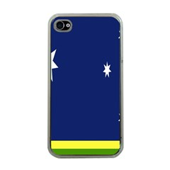 Flag Star Blue Green Yellow Apple iPhone 4 Case (Clear)