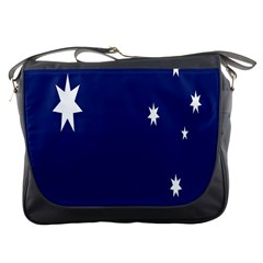 Flag Star Blue Green Yellow Messenger Bags