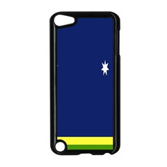 Flag Star Blue Green Yellow Apple iPod Touch 5 Case (Black)