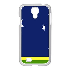 Flag Star Blue Green Yellow Samsung GALAXY S4 I9500/ I9505 Case (White)