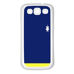 Flag Star Blue Green Yellow Samsung Galaxy S3 Back Case (White)