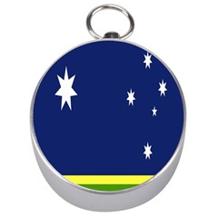 Flag Star Blue Green Yellow Silver Compasses