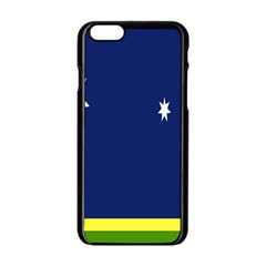Flag Star Blue Green Yellow Apple iPhone 6/6S Black Enamel Case