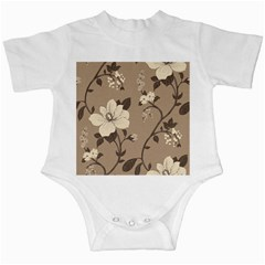Floral Flower Rose Leaf Grey Infant Creepers