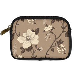 Floral Flower Rose Leaf Grey Digital Camera Cases