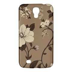 Floral Flower Rose Leaf Grey Samsung Galaxy Mega 6.3  I9200 Hardshell Case