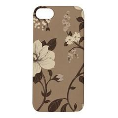 Floral Flower Rose Leaf Grey Apple iPhone 5S/ SE Hardshell Case