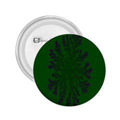 Dendron Diffusion Aggregation Flower Floral Leaf Green Purple 2.25  Buttons