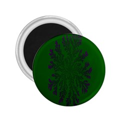 Dendron Diffusion Aggregation Flower Floral Leaf Green Purple 2.25  Magnets