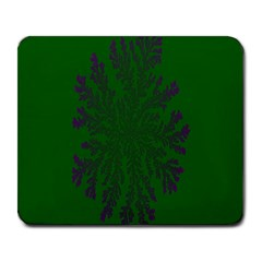 Dendron Diffusion Aggregation Flower Floral Leaf Green Purple Large Mousepads