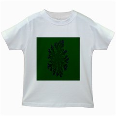 Dendron Diffusion Aggregation Flower Floral Leaf Green Purple Kids White T Shirts