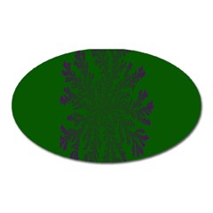 Dendron Diffusion Aggregation Flower Floral Leaf Green Purple Oval Magnet