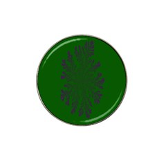 Dendron Diffusion Aggregation Flower Floral Leaf Green Purple Hat Clip Ball Marker (4 pack)