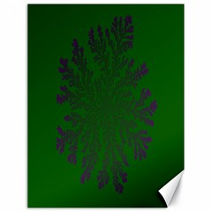 Dendron Diffusion Aggregation Flower Floral Leaf Green Purple Canvas 18  x 24