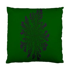 Dendron Diffusion Aggregation Flower Floral Leaf Green Purple Standard Cushion Case (Two Sides)