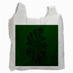 Dendron Diffusion Aggregation Flower Floral Leaf Green Purple Recycle Bag (Two Side)
