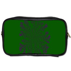 Dendron Diffusion Aggregation Flower Floral Leaf Green Purple Toiletries Bags 2 Side