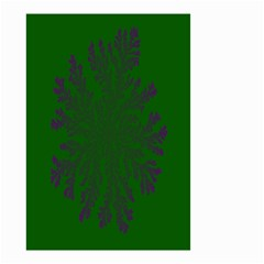 Dendron Diffusion Aggregation Flower Floral Leaf Green Purple Small Garden Flag (Two Sides)