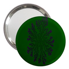 Dendron Diffusion Aggregation Flower Floral Leaf Green Purple 3  Handbag Mirrors