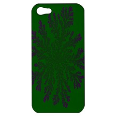 Dendron Diffusion Aggregation Flower Floral Leaf Green Purple Apple iPhone 5 Hardshell Case