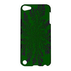 Dendron Diffusion Aggregation Flower Floral Leaf Green Purple Apple iPod Touch 5 Hardshell Case