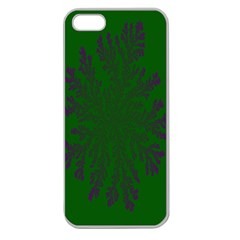 Dendron Diffusion Aggregation Flower Floral Leaf Green Purple Apple Seamless iPhone 5 Case (Clear)