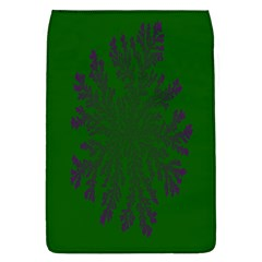 Dendron Diffusion Aggregation Flower Floral Leaf Green Purple Flap Covers (L)