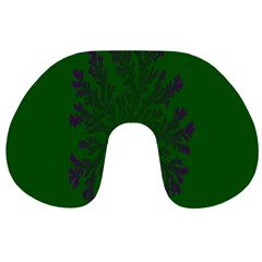 Dendron Diffusion Aggregation Flower Floral Leaf Green Purple Travel Neck Pillows