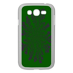 Dendron Diffusion Aggregation Flower Floral Leaf Green Purple Samsung Galaxy Grand Duos I9082 Case (white)