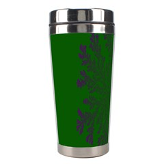 Dendron Diffusion Aggregation Flower Floral Leaf Green Purple Stainless Steel Travel Tumblers