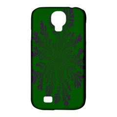 Dendron Diffusion Aggregation Flower Floral Leaf Green Purple Samsung Galaxy S4 Classic Hardshell Case (PC+Silicone)