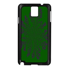 Dendron Diffusion Aggregation Flower Floral Leaf Green Purple Samsung Galaxy Note 3 N9005 Case (Black)