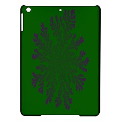 Dendron Diffusion Aggregation Flower Floral Leaf Green Purple iPad Air Hardshell Cases