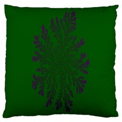 Dendron Diffusion Aggregation Flower Floral Leaf Green Purple Standard Flano Cushion Case (Two Sides)