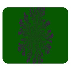 Dendron Diffusion Aggregation Flower Floral Leaf Green Purple Double Sided Flano Blanket (Small)