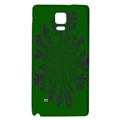 Dendron Diffusion Aggregation Flower Floral Leaf Green Purple Galaxy Note 4 Back Case