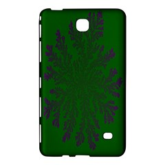 Dendron Diffusion Aggregation Flower Floral Leaf Green Purple Samsung Galaxy Tab 4 (7 ) Hardshell Case